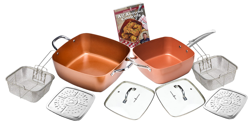 copper chef double combo set of XL and standard pan