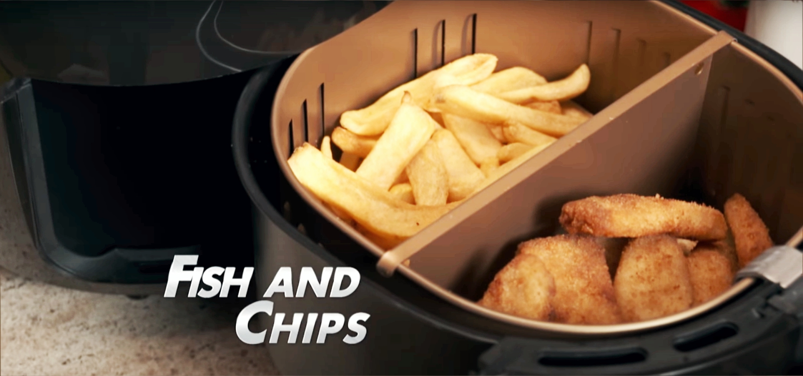 fish and chips made from power air fryer