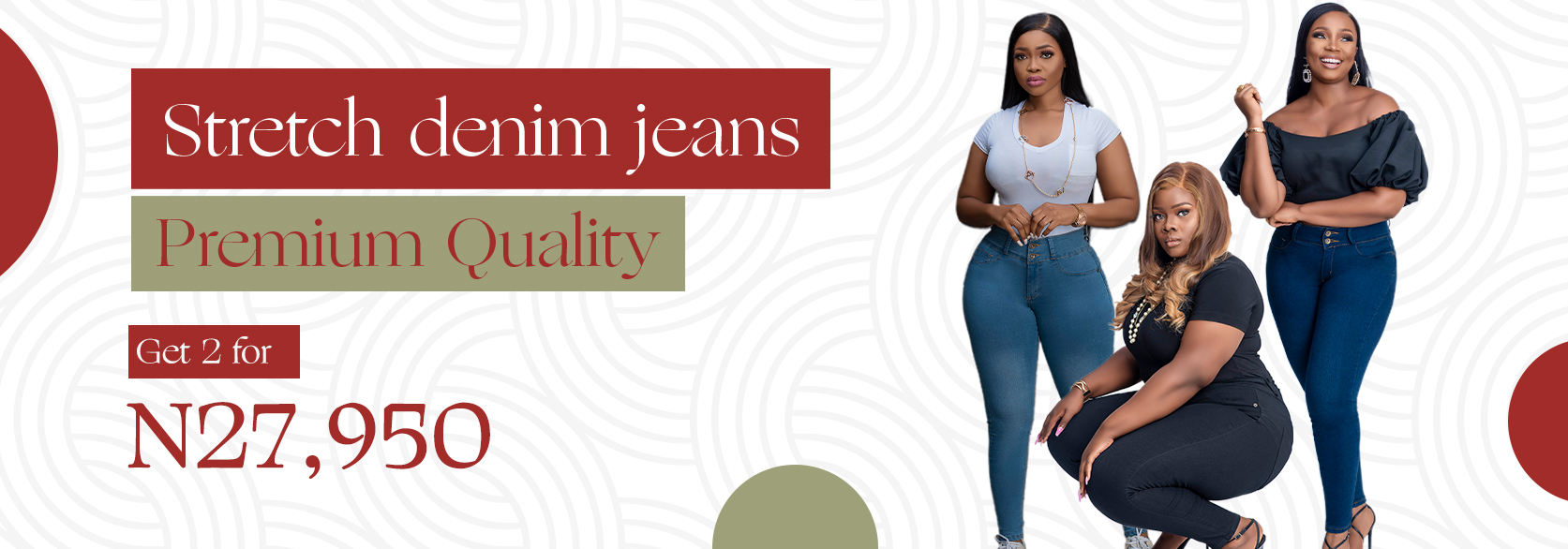 My fit jeans by shopex Banner