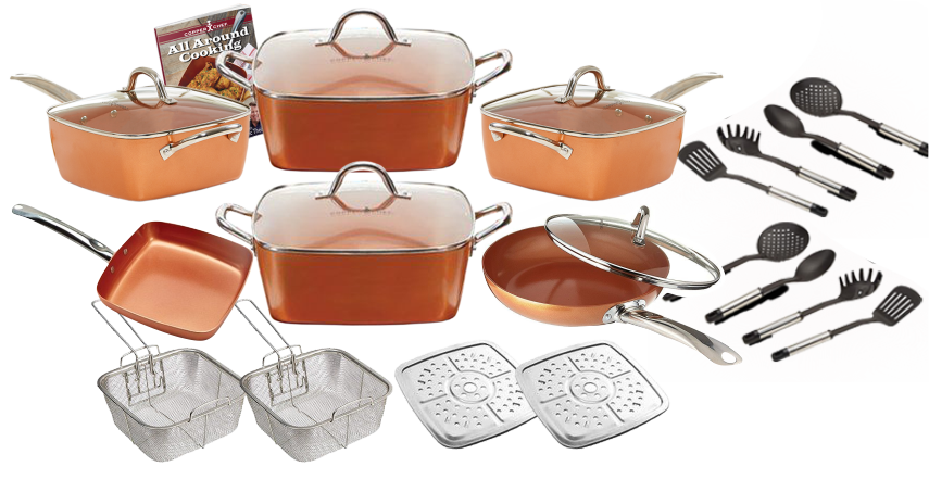 copper chef deluxe set from shopex